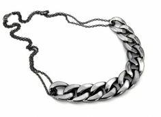 Naszyjnik Gruby Łańcuch Pancerka Grafitowy. #naszyjnik #necklace