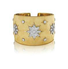 Buccellati. An Important Diamond and Gold Cuff Bracelet. An Important Diamond and Gold Cuff Bracelet