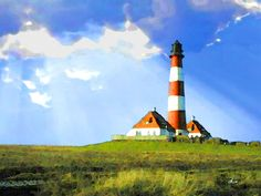 'Leuchtturm Westerhever' von Dirk h. Wendt bei artflakes.com als Poster oder Kunstdruck $18.03