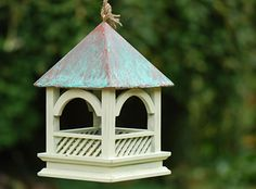 Hanging bird tables for small gardens and patios. Attract birds to your garden with a high quality hanging bird table. Available to buy online. Bird Tables, Paint Effects, Wild Birds, Bird Feeders, Outdoor Gardens, Gothic, Outdoor Decor, Outdoor Spaces, Stuff To Buy