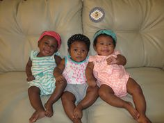 Happy 5-month birthday to NEDC triplets Ryley, Whitley and Anne Waverly!