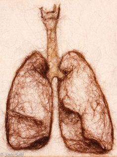 Needle Felted Lung Illustration Anatomy by HeartFeltSelfMade