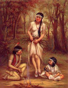"Adelaide Hiebel ~ ""Children Of The Forest"" -- http://observerzparadise.com/"
