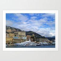 Monaco: Art Prints by Carolyn Jones | Society6