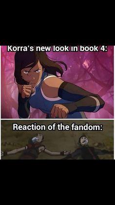 LOK Book 4, Korra's new look---BUT THE FEELS ON THE LAST SCENE IN EPISODE 1.THE FEEEELLLLSSSSSS