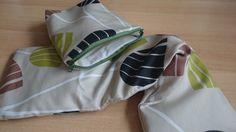 Wellness-Set - Hülle für Traubenkernkissen dazu eine kleine passende Tasche mit Reißverschluss für Badeutensilien