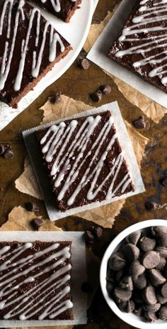 homemade, from-scratch recipe is just as easy as a boxed mix! So rich & the BEST you'll ever eat -- but they're secretly skinny & guilt-free! Healthy Sweet Treats, Healthy Baking, Healthy Desserts, Chocolate Raspberry Brownies, Chocolate Treats, Dog Treat Recipes, Sweet Recipes, Dessert Recipes, Brownie Recipe Video