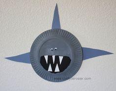 Cindy deRosier: My Creative Life: Paper Plate Sharks