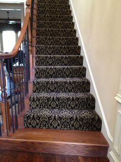 hardwood stairs carpet runner