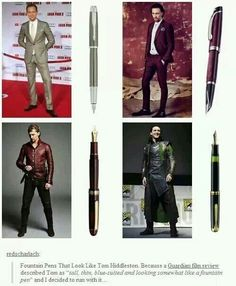 Tom Hiddleston ~ Like a pen... I've seen this about 6 times and I never really get it