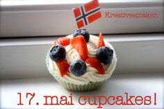 17. mai cupcakes (kreativesmaker) Brownies, Waffles, Cupcakes, Breakfast, Desserts, Food, Blogging, Cake Brownies, Morning Coffee