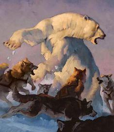 Mi Chunmao: 11 тыс изображений найдено в Яндекс.Картинках Wildlife Paintings, Wildlife Art, Animal Paintings, Animal Drawings, Oil Paintings, Urso Bear, Bear Art, Painting & Drawing, Comic Art