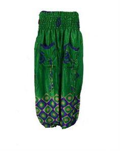 Haremsbukser i genbrugt silkesari  Harem trousers vintage silk
