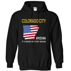 COLORADO CITY - Its Where My Story Begins - #gift basket #gift box. ADD TO CART => https://www.sunfrog.com/States/COLORADO-CITY--Its-Where-My-Story-Begins-olqbc-Black-14435190-Hoodie.html?68278