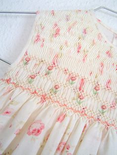 Smocking with flowers