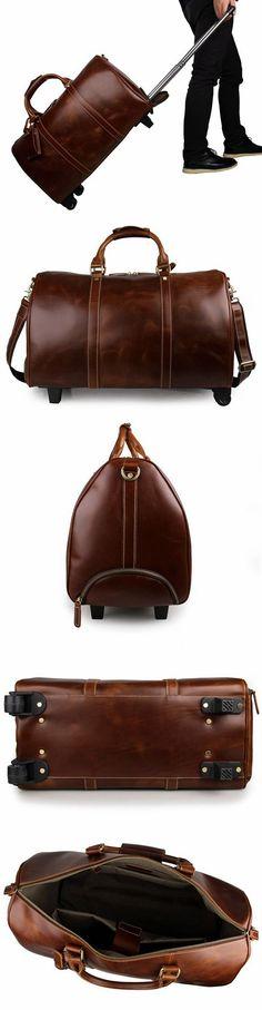 Handmade Extra Large Vintage Full Grain Leather Travel Bag f15c6ad2ebb95