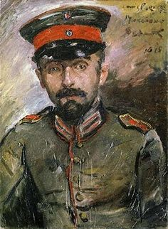 Portrait of artist Herman Struck in his officer's uniform, 1915 by Lovis Corinth (German 1858–1925)
