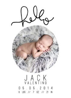 Baby Announcement - HelloHello by Kristen Polsinelli