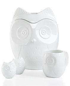 The Cellar Serveware, Figural Owl Collection