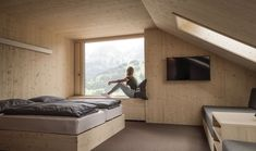 Revier Mountain Lodge Adelboden Adelboden, Switzerland, Modern, Mountain, Huge Bed, Hotel Bedrooms, Roof Window, Small Rooms, Twin Size Beds