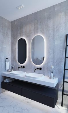 Ablaze Luminous Oval Backlit Bathroom Mirror