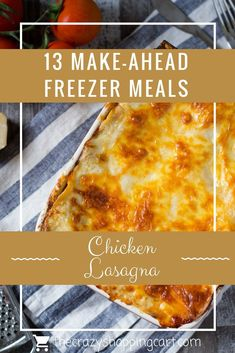 Make a meal for dinner that you can eat right away AND freeze for later! 13 Make-Ahead Freezer Meals Chicken Freezer Meals, Make Ahead Freezer Meals, Quick Meals, Freezer Cooking, Cooking Tips, Cooking With Kids Easy, Healthy Eating For Kids, Delicious Dinner Recipes, Yummy Food