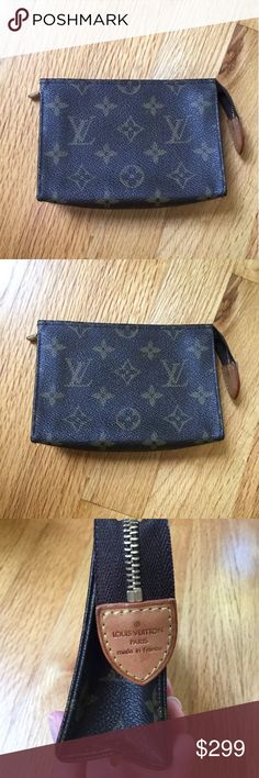 c09a8e553f4a Louis Vuitton Toiletry Pouch 15 Monogram Cosmetic Good pre owned condition