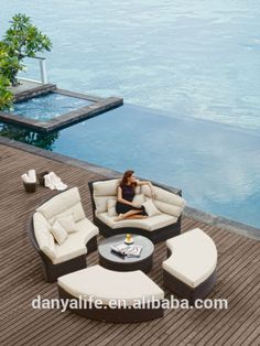 The Skyline Design Outdoor Patio Furniture Bishan Collection offers you the versatility to have seating for you and your guests while giving. Wicker Table, Wicker Sofa, Wicker Furniture, Outdoor Furniture Sets, Outdoor Decor, Sofa Chair, Sofa Set, Outdoor Living, Wicker Man