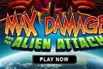 #MaxDamage slot is an arcade style game with a theme that portrays the #war against the space #invaders. If you play this game, you will go on a breathtaking trip into #space. Its available on Microgaming software so you will have many chances to win.  When the game opens, you will see the space ship at the bottom of the slot screen.