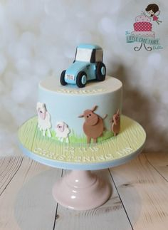 Christening cake for baby Charlie, whose family live on a farm Farms Living, Little Cakes, Baby Shower Cakes, Christening, Desserts, Facebook, Food, Cakes Baby Showers, Tailgate Desserts