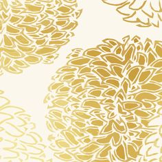 Ming Chrysanthemum in Gold Dust fabric by sparrowsong on Spoonflower - custom fabric and wallpaper. Lovely Chinoise style mums.