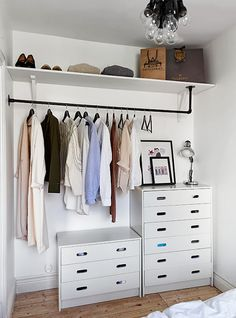 tiny house inspiration for exposed closet diy
