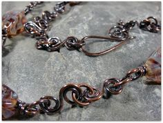 A closer look at the handmade chain