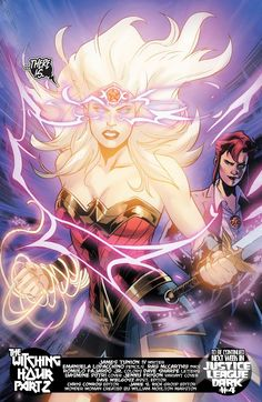 """Don't worry Justice League Dark team, if there is one thing that can stop Hecate's magic, it's Wonder Woman! What did you think of """"The Witching Hour"""" Part 2 in WONDER WOMAN issue Comic Book Characters, Marvel Characters, Comic Books Art, Comic Art, Book Art, Arte Dc Comics, Star Comics, Cosmic Comics, Justice League Dark"""