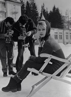 Bridgitte Bardot capricho de los fotógrafos.