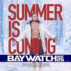 Zac Efron & Dwayne Johnson Go Shirtless in New 'Baywatch' Posters: Photo Zac Efron and Dwayne Johnson are showing off their six-packs in the middle of winter! The Baywatch stars went shirtless in some snowy conditions for the newest… Movie Characters, New Movies, Movies Online, Movies Free, Upcoming Movies, Baywatch 2017, Trailers, Movie Posters, Posters