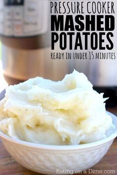 Pressure cooker Mashed Potatoes Recipe - Eating on a Dime