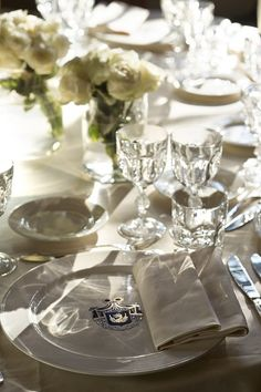 White table-setting...simple yet elegant.