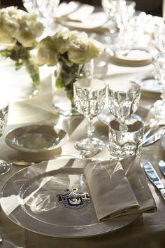 White table-setting...simple yet elegant.