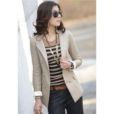 $12.85 Elegance OL Style Double Breasted Long Sleeve Slim Blazers For Women