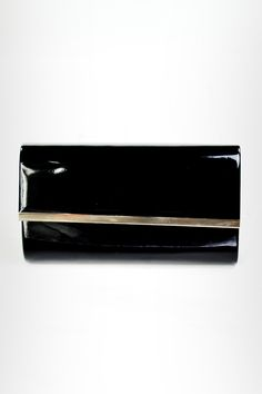 Black Patent Envelope Clutch Bag - Need That Look #NeedThatLook NYE Envelope Clutch, Clutch Bag, Nye, Bags, Handbags, Clutch Bags, Dime Bags, Lv Bags, Purses