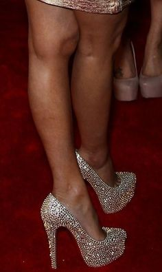 Nicki Manaj in Christian Louboutin's