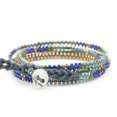Chan Luu - Blue Mix Beaded Wrap Bracelet, $210.00 (http://www.chanluu.com/wrap-bracelets/blue-mix-beaded-wrap-bracelet/)