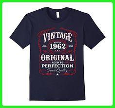 Mens Vintage Made In 1962 Birthday Gift T-Shirt Large Navy - Birthday shirts (*Amazon Partner-Link)