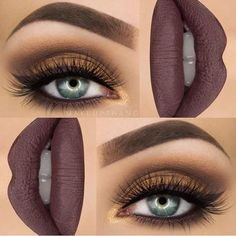 Gothic Eye And Lip Makeup For Christmas Party