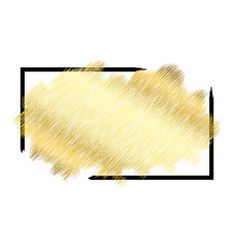 Gold metall texture black frame golden color vector image on VectorStock Gold And Black Background, Gold Wallpaper Background, Banner Background Images, Framed Wallpaper, Fond Design, Circle Design, Gold Watercolor, Watercolor Texture, Fashion Wall Art