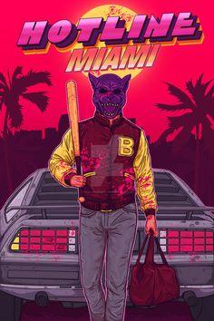 Hotline Miami Commission by TheChrisPMan on DeviantArt Western Comics, Shirt Print Design, Retro Waves, Glitch Art, Dope Art, Cultura Pop, Chill, Vaporwave, Cyberpunk