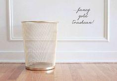 Haz lo mismo con una de esas papeleras baratas de IKEA. | 33 formas en que la pintura en aerosol puede hacer lucir más caras tus cosas