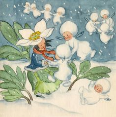 images attach c 9 107 163 Vintage Fairies, Vintage Art, Flower Fairies, Flower Art, Fairy Land, Fairy Tales, Winter Fairy, Beautiful Fairies, Illustrations And Posters