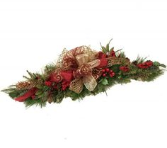 Burgundy Sunflowers | 36 Burgundy Holiday Swag- Christmas Centerpiece-WR456 : Floral Home ...